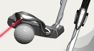 golf putter laser device for more accurate alignment