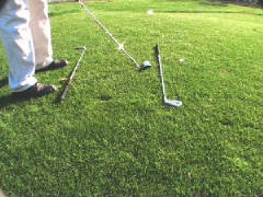 Use your clubs to help with alignment