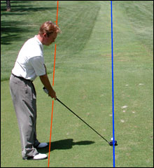 Proper alignment leads to better golf shots.